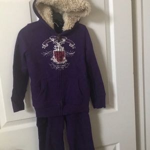 Girls size 5 Ralph Lauren jogging suit purple